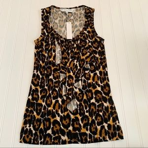Trina Turk silk animal print top size small NWT